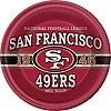 SAN FRANCISCO 49ER'S DINNER PLT (48/CS) PARTY SUPPLIES