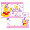 DISCONTINUED POOH'S 1ST PINK PHOTO FRM PARTY SUPPLIES