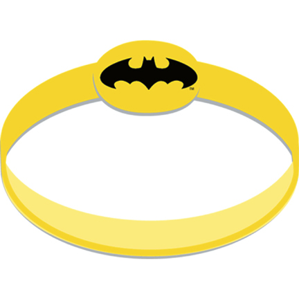 Click for larger picture of BATMAN WRISTBAND (24/CS) PARTY SUPPLIES