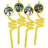 DISCONTINUED PENGUINS MADAG STRAWS PARTY SUPPLIES