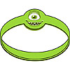DISCONTINUED MONSTERS UNV WRISTBANDS PARTY SUPPLIES