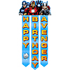 AVENGERS ASSEMBLE BIRTHDAY BANNER PARTY SUPPLIES