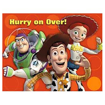 Click for larger picture of DISCONTINUED TOY STORY 3 INVITATIONS PARTY SUPPLIES