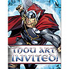 DISCONTINUED THOR INVITATIONS PARTY SUPPLIES