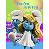 DISCONTINUED SMURFS INVITATIONS PARTY SUPPLIES