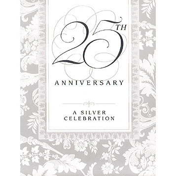 Click for larger picture of DISCONTINUED WEDDING ELEGANCE 25TH INVTE PARTY SUPPLIES