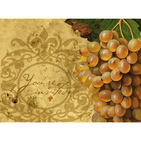 Click for larger picture of DISCONTINUED VINEYARD RESERVE INVITE PARTY SUPPLIES