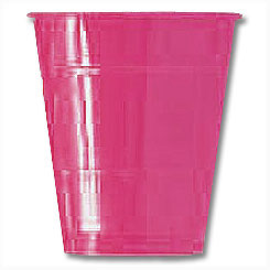 Click for larger picture of BRIGHT PINK 12OZ CUP- BIG PACK (50CT.) PARTY SUPPLIES