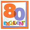 DISCONTINUED BIG DAY! 80TH LUNCH NAPKIN PARTY SUPPLIES