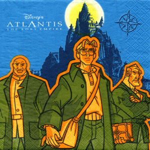 Click for larger picture of DISCONTINUED ATLANTIS LUNCHEON NAPKIN PARTY SUPPLIES