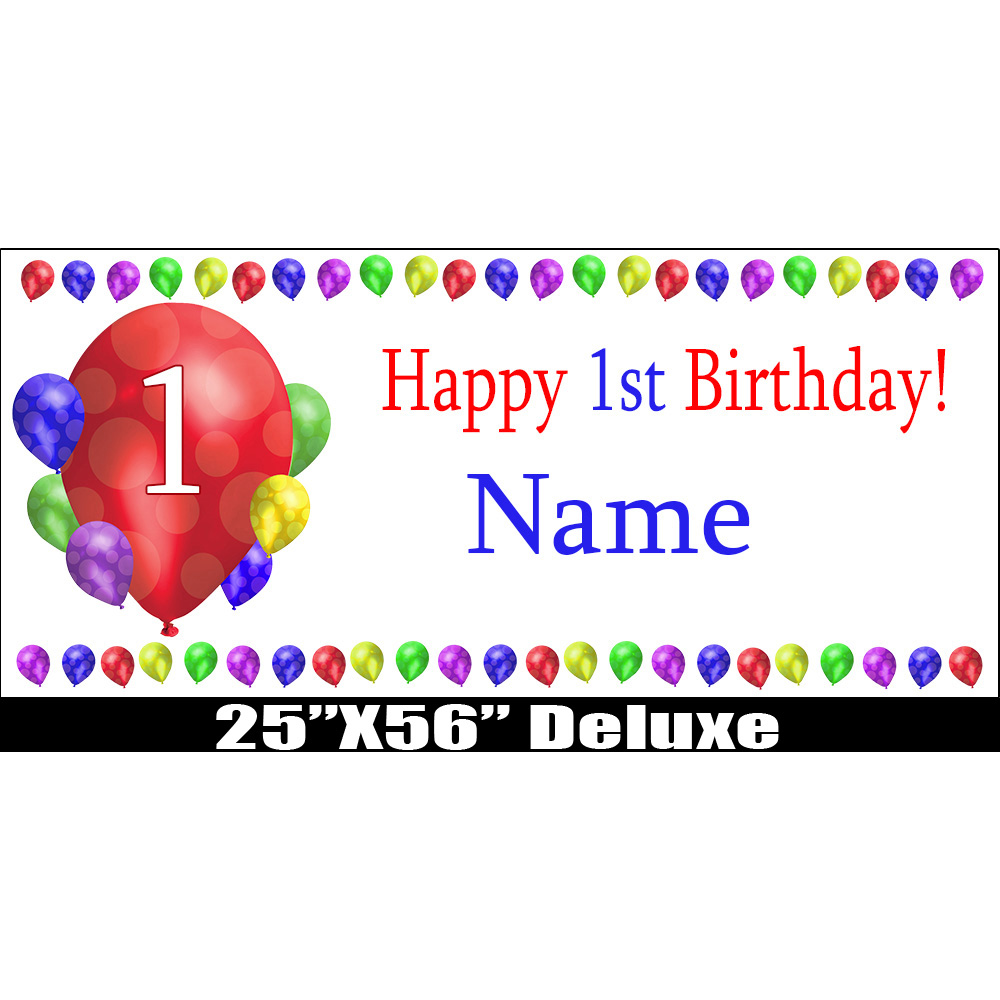Click For Larger Picture Of 1ST BIRTHDAY BALLOON BLAST DELUX BANNER PARTY SUPPLIES