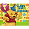 DISCONTINUED POOH'S FIRST BDAY THANK YOU PARTY SUPPLIES