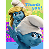 DISCONTINUED SMURFS THANK YOU NOTE PARTY SUPPLIES