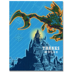 Click for larger picture of DISCONTINUED ATLANTIS THANK YOU NOTES PARTY SUPPLIES