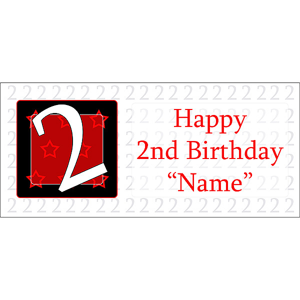 2 happy birthday party supplies personalized 2 year old banner