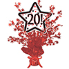 20! RED STAR CENTERPIECE PARTY SUPPLIES