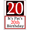 PERSONALIZED 20 YEAR OLD YARD SIGN PARTY SUPPLIES
