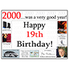 2000 - 19TH BIRTHDAY PLACEMAT PARTY SUPPLIES