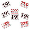 2000 - 19TH BIRTHDAY STICKER SEAL PARTY SUPPLIES