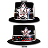 2001 - 16TH BIRTHDAY BLACK TOP HAT PARTY SUPPLIES