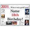 2001 - 18TH BIRTHDAY PLACEMAT PARTY SUPPLIES