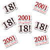2001 - 18TH BIRTHDAY STICKER SEAL PARTY SUPPLIES