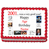 2001 PERSONALIZED ICING ART PARTY SUPPLIES