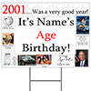 2001 PERSONALIZED YARD SIGN PARTY SUPPLIES