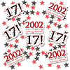 2002 - 17TH BIRTHDAY DECO FETTI PARTY SUPPLIES