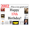 2002 - 17TH BIRTHDAY PLACEMAT PARTY SUPPLIES