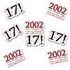 2002 - 17TH BIRTHDAY STICKER SEAL PARTY SUPPLIES
