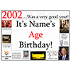 2002 CUSTOMIZED DOOR POSTER PARTY SUPPLIES