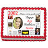 2002 PERSONALIZED EDIBLE PHOTO CAKE IMGE PARTY SUPPLIES