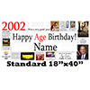 2002 PERSONALIZED BANNER PARTY SUPPLIES