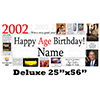 2002 DELUXE PERSONALIZED BANNER PARTY SUPPLIES