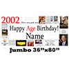 2002 JUMBO PERSONALIZED BANNER PARTY SUPPLIES