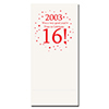 2003 - 16TH BIRTHDAY DINNER NAPKIN PARTY SUPPLIES