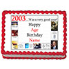 2003 PERSONALIZED EDIBLE CAKE IMAGE PARTY SUPPLIES