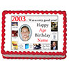2003 PERSONALIZED EDIBLE PHOTO CAKE IMGE PARTY SUPPLIES
