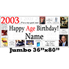 2003 JUMBO PERSONALIZED BANNER PARTY SUPPLIES