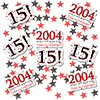 2004 - 15TH BIRTHDAY DECO FETTI PARTY SUPPLIES