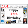 2004 - 15TH BIRTHDAY PLACEMAT PARTY SUPPLIES
