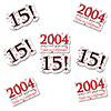 2004 - 15TH BIRTHDAY STICKER SEAL PARTY SUPPLIES