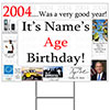 2004 PERSONALIZED YARD SIGN PARTY SUPPLIES