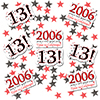 2006 - 13TH BIRTHDAY DECO FETTI PARTY SUPPLIES