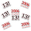 2006 - 13TH BIRTHDAY STICKER SEAL PARTY SUPPLIES
