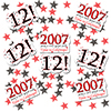 2007 - 12TH BIRTHDAY DECO FETTI PARTY SUPPLIES