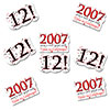 2007 - 12TH BIRTHDAY STICKER SEAL PARTY SUPPLIES