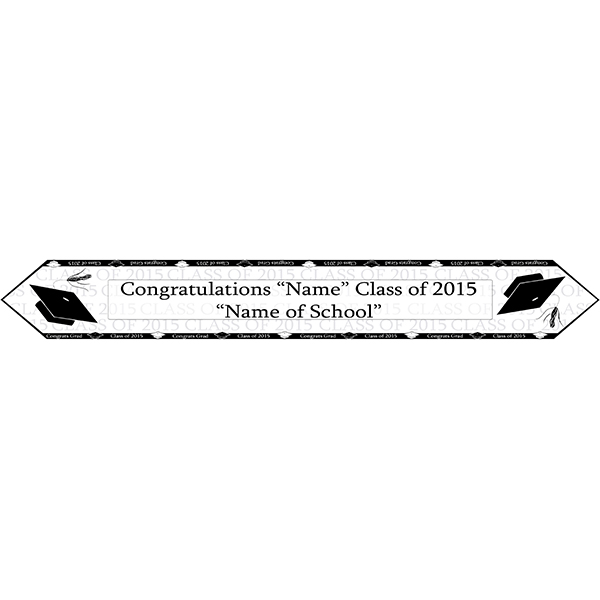 2015 BLACK GRADUATION TABLE BANNER PARTY SUPPLIES
