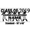 2019 BLACK GRADUATION BANNER PARTY SUPPLIES
